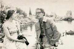 12А.Д. Тихомиров с женой Натальей. Гурзуф. 1952
