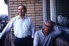 34А.Д. Тихомиров и И.М. Ильин на балконе мастерской Тихомирова. 1970-е
